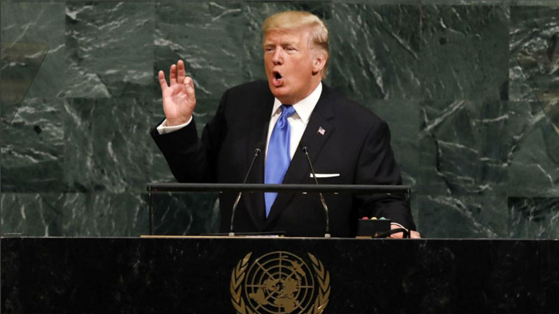 Trump addresses US voters in UN speech