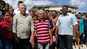 Cuban President Miguel Diaz-Canel visited the Hurricane Michael affected area in Southern Cuba.