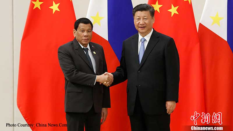 Chinese President Xi Jinping and Philippine President Rodrigo Roa Duterte, during the first's Philippine Visit