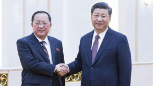Chinese President Xi Jinping Meets North Korean FM Ri Yong Ho