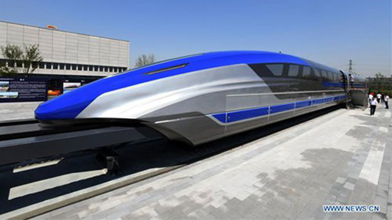 China's first high-speed maglev train testing prototype in Qingdao, East China's Shandong Province