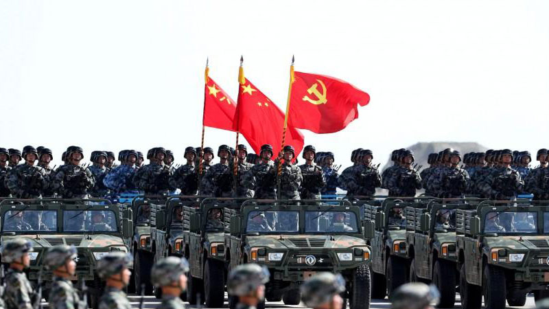 Chinese Military parade PLA