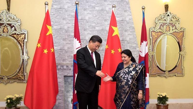 President Bidya Devi Bhandari Meets with Chinese President Xi Jinping