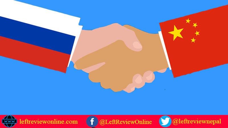 China Russia handshake, tie bond
