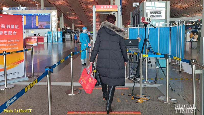 Airports across China accelerate prevention efforts to contain imported infection cases