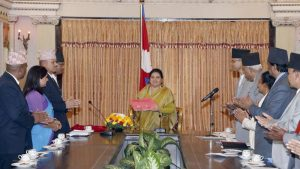 Tharu Commission submits Report to President Bhandari