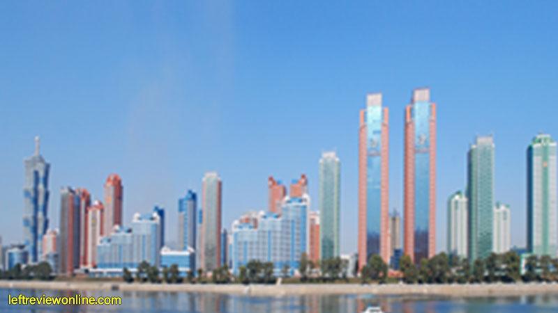 dprk, pyongyang, infrastructure, skyrappers, development