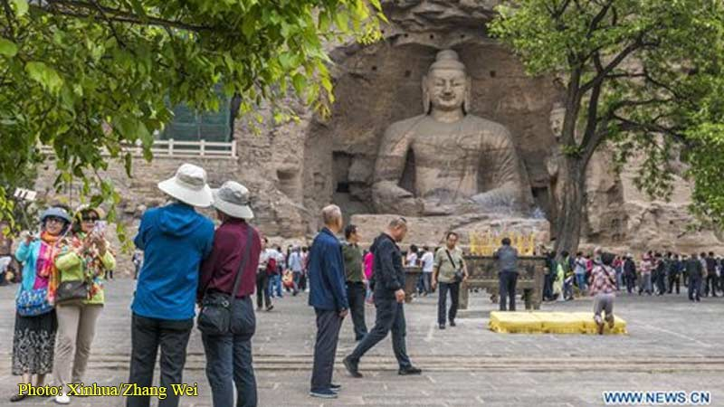 the Yungang Grottoes in Datong, north China's Shanxi Province.