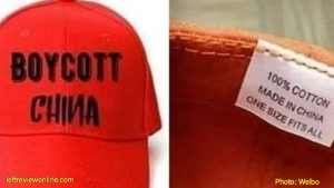 'Boycott China' T-shirts and caps in India were not made in China: Insiders.