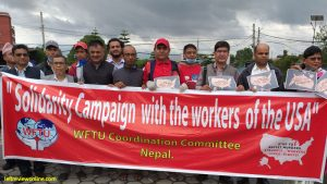 WFTU extends solidarity to the US Workers' Movement
