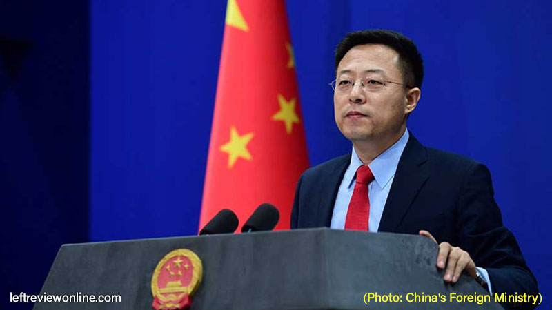 Spokesperson of China's Foreign Ministry, Zhao Lijian,