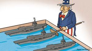 US warship drills embolden regional instability