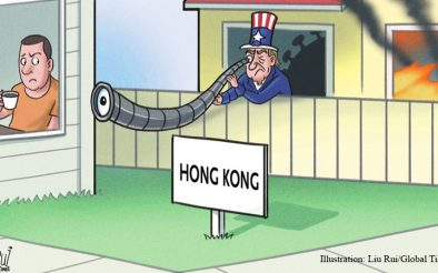 Diverting attention of US peope from Covid-19 to Hong Kong