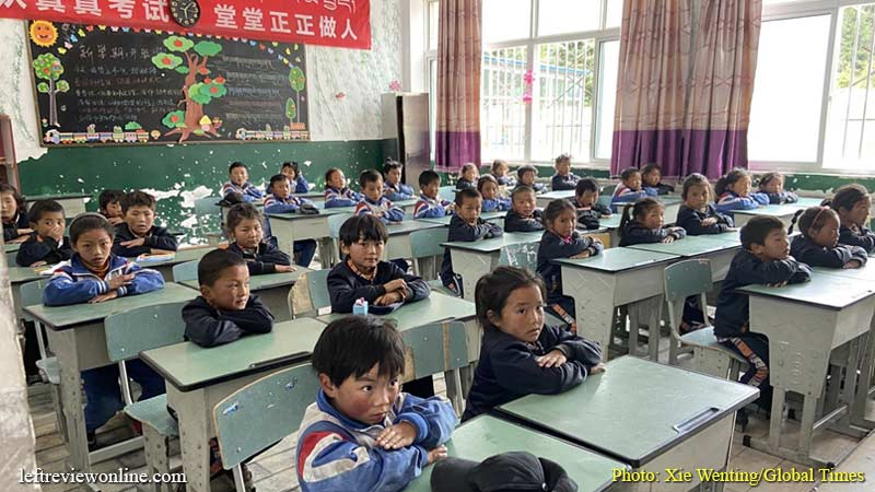 Tibetan school enrollment rises to record rates thanks to favorable policies
