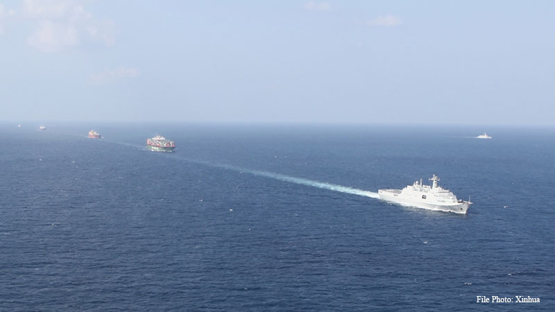 Chinese navy escorts Indian oil tanker in dangerous waters amid strained ties