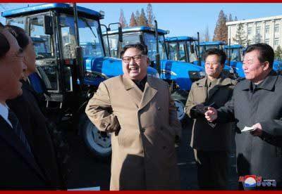 Kim Jong Un Visits Kumsong Tractor Factory