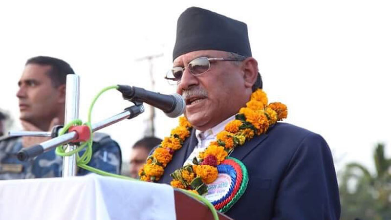 Chairman Prachanda (Pushpa Kamal Dahal) at Lumbini Mahotsab