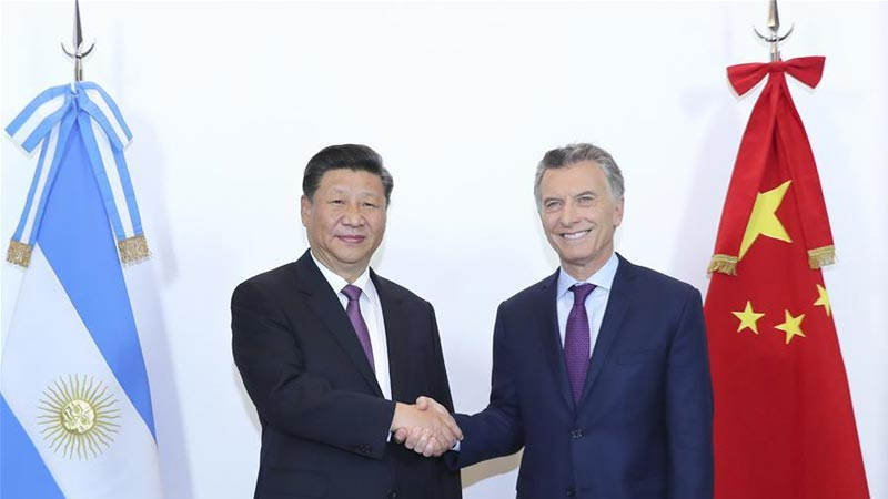 Chinese President Xi Jinping Meets his Argentine Counterpart