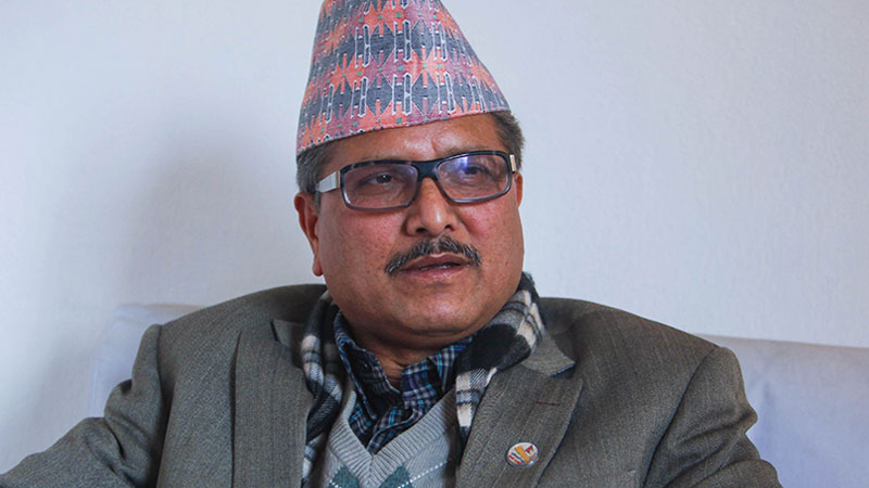 Comrade Haribol Gajurel, former Minister for Agriculture and Leader of Communist Party of Nepal (NCP)