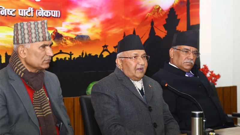 Prime Minister KP Sharma Oli and Prachanda