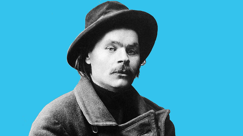 """Maxim Gorki, The famous Russsian writer, author of the novel """"the Mother"""""""