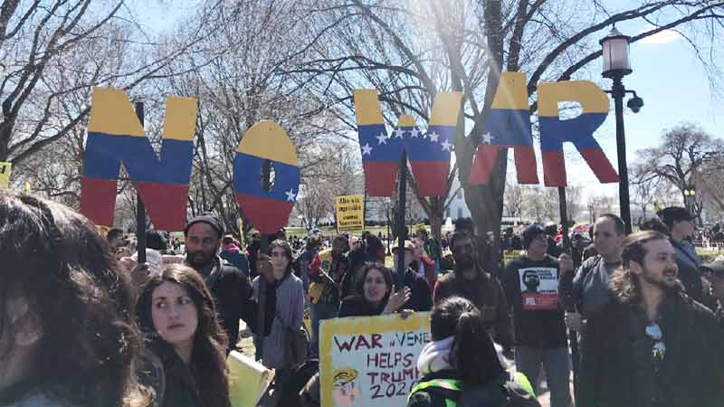 Venezuela Solidarity Demonstration infront of White House
