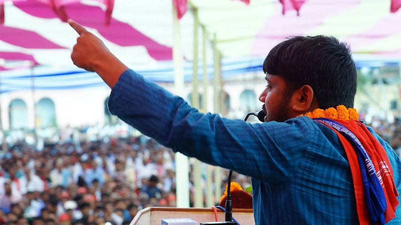 Kanhaiya Kumar addressing the mass of Begusarai, Bihar, India