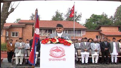 सम्माननीय प्रधानमन्त्री श्री केपी शर्मा ओलीको नयाँ वर्ष २०७६ को शुभकामना मन्तव्य (भिडियो सहित)