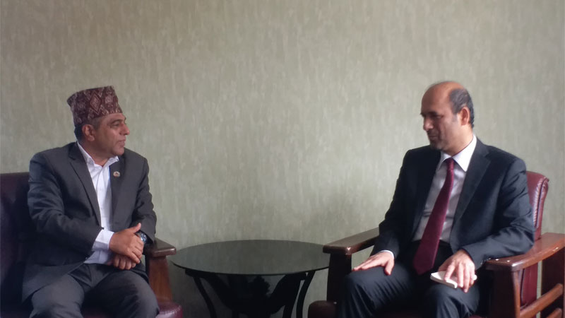 Chakra Pani Khanal Baldev with Ambassador of UAE