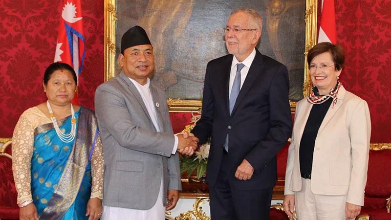 Nanda Kishor Pun Pasang Austria visit
