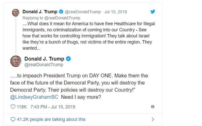 US President Donald Trumps Tweet