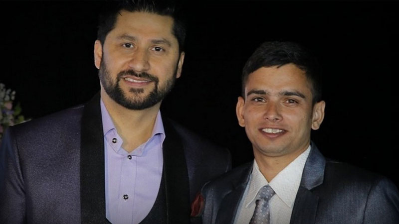 Rabi Lamichhane and Shalikram Pudasaini