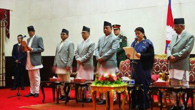 सभामुख सापकोटाद्वारा सपथ, पदभार ग्रहण र नेकपाबाट राजीनामा